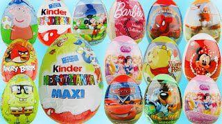 YouTubeW tym wideo otwieram 16 jajko niespodzianka Maxi Świnka Peppa, Myszka Miki, spongebob kanciastoporty Auta w języku angielskum to Cars, Samoloty ang. Planes, człowiek pająk w języku angielskim to Spider Man, Myszka Minnie ang. Minnie Mouse, Angry Birds, Lalka Barbie, Księżniczki Disneya w języku angielskim to Disney Princess, Skooby Doo, Hello Kitty, Duże jajo niespodzianka którego waga jest 100gram.