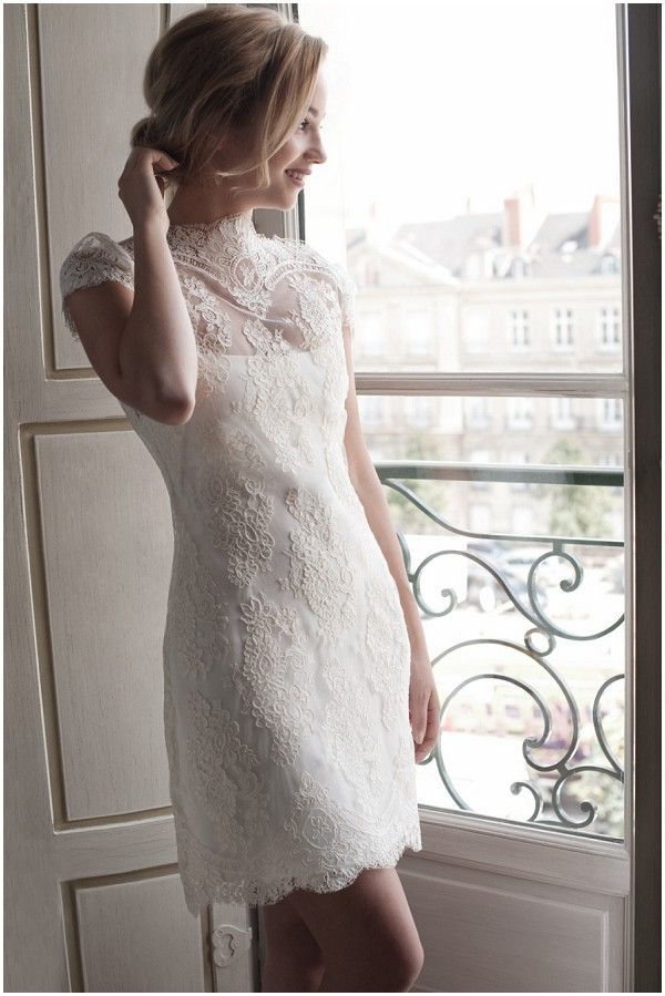 Fabienne Alagama's vintage inspired Short wedding dress #Wedding
