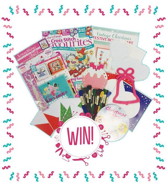**Weekend Win!!** Happy Friday, stitchers! It's time for another great giveaway. This week it's Christmas in... well, not quite July, but close! One lucky winner will receive a copy of Christmas Cross Stitch Favourites, two collections of Christmas charts  and two bonus holiday charts, Anchor threads, cards, aida and more! To enter to win, simply tell us... when do you start your Christmas stitching? Write your answer in the comments below, and don't forget to like and share this post…