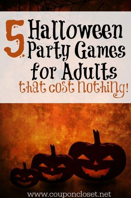 adult activities for halloween