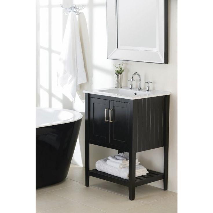 Harmony Vanity Black 610mm - Vanities - Bathroom