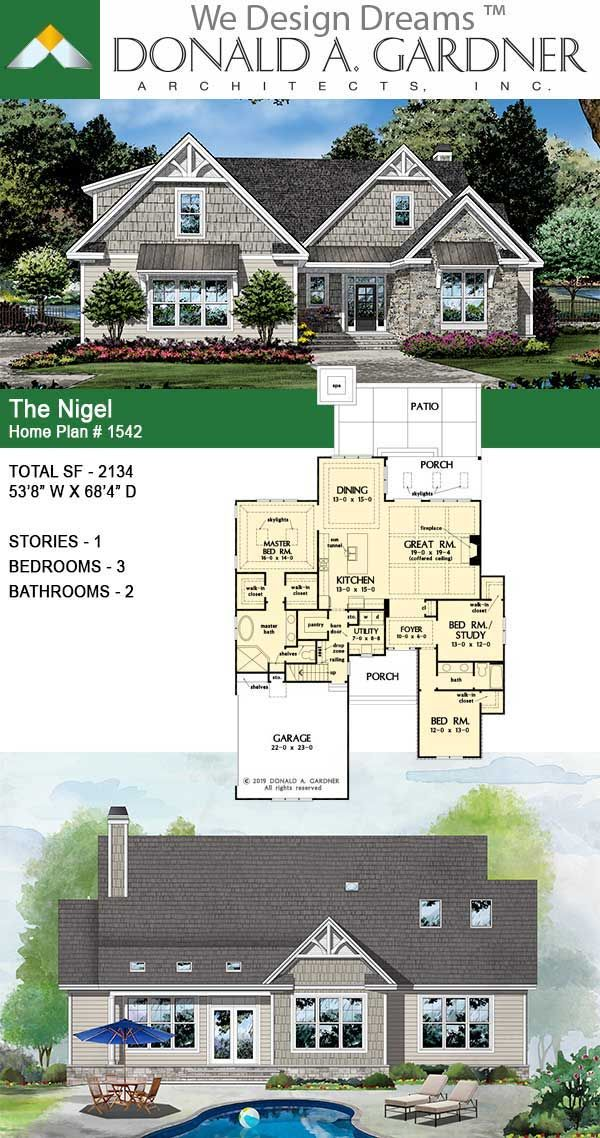 House Plan The Nigel Home Plan 1542 In 2020 New House Plans Architectural Design House Plans Dream House Plans
