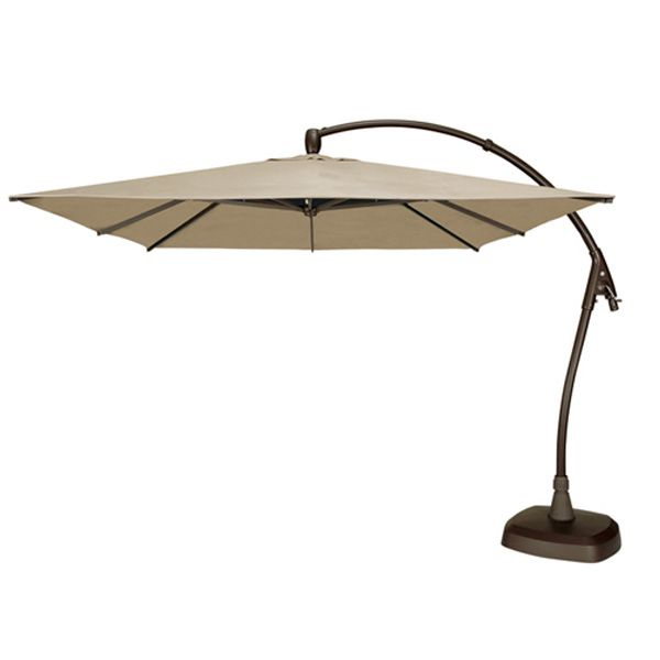 10 Ft. Square Cantilevered Umbrella By Treasure Garden | Patio Accessories
