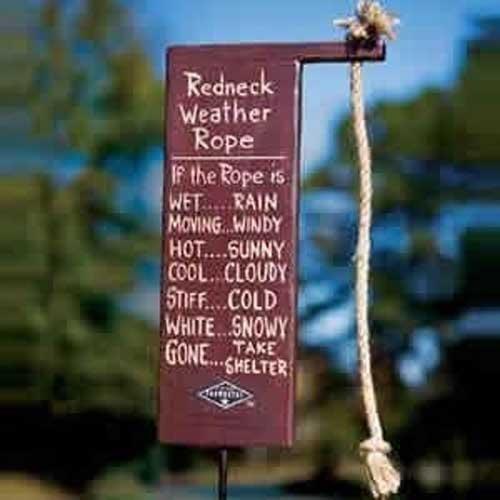 Redneck Weather Rope | CRAFTS!