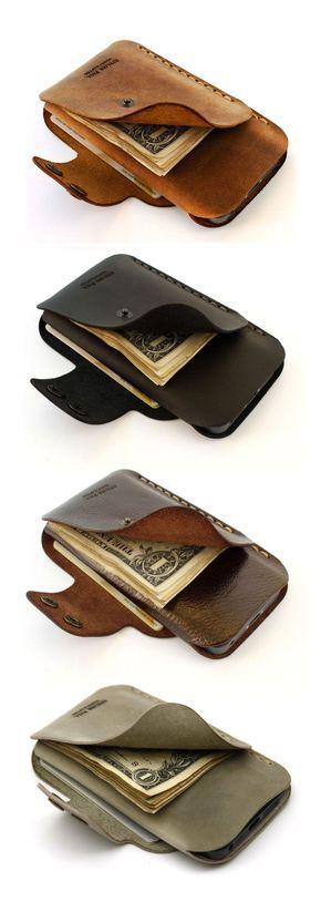 бумажник с отделом под телефон или чехол для телефона с кармашками для купюр