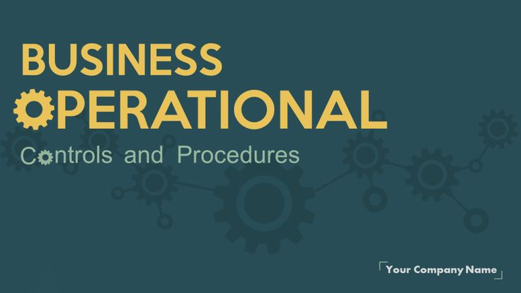 Business Operational Planning Controls and Procedures- PowerPoint Presentation Cover Slide