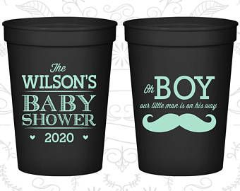 Mustache Baby Shower Cups, Cheap Baby Shower Plastic Cups, It's a Boy Cups, Baby Boy Shower, Baby Shower Gifts (90092)