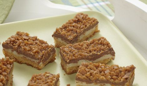 Toffee Chocolate Bars  These are SOOOOO GOOD! I have tried them ~ They take some time to make but they are SO worth it!!
