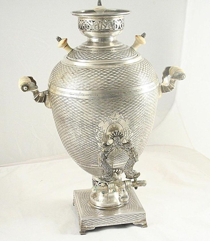 Russian Antique Samovar Sterling Silver 84 Teapot Russia 1864 19 Century