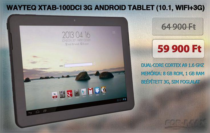 "ayteQ xTAB-100dci 3G Android tablet (10.1"" IPS, DualCore, WiFi+3G)   www.for-max.hu/1253-wayteq/wayteq-xtab-100dci-3g-android-tablet-10.1-ips-dualcore-wifi+3g.html?utm_source=salecikk&utm_medium=salecikk&utm_campaign=salecikk"
