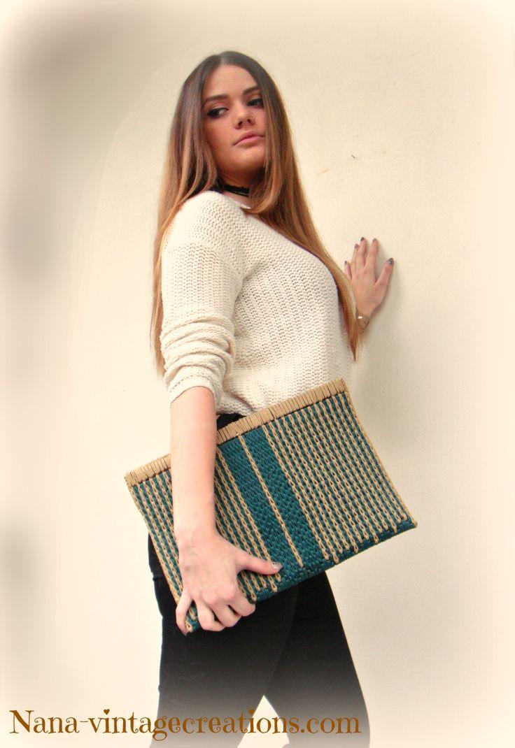 Handmade vintage bag (No 008)
