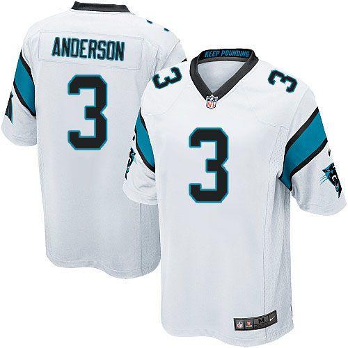 Youth Nike Carolina Panthers #3 Derek Anderson Limited White NFL Jersey Sale