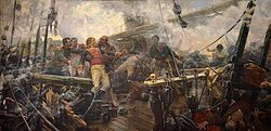Death of Cosme de Churruca, by Eugenio Álvarez Dumont, museo del Prado - Spanish ship San Juan Nepomuceno - Wikipedia, the free encyclopedia