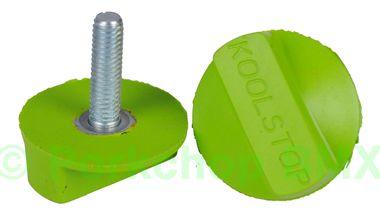 Kool Stop Intl'l old school BMX finned bicycle brake pad REFILLS (PAIR) - GREEN (EM-IRG)
