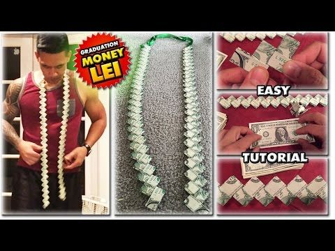 2017 HOW TO MAKE A MONEY LEI | NEW FLAT CHAIN STYLE | TUTORIAL | GRADUATION CORD | 1080 60p - YouTube