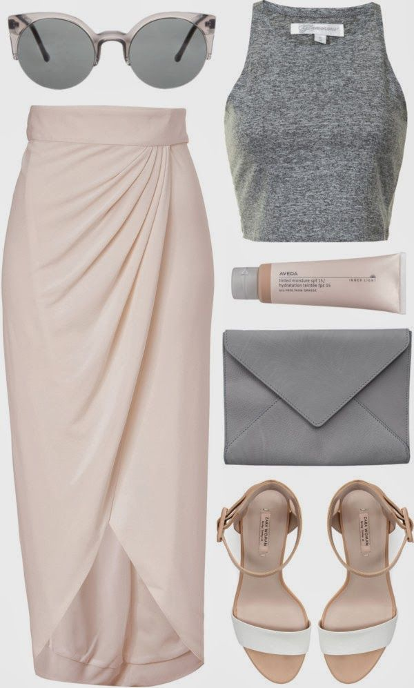 Soft colors: blush pink and grey. Via Society of Chic: Is it Spring Yet?