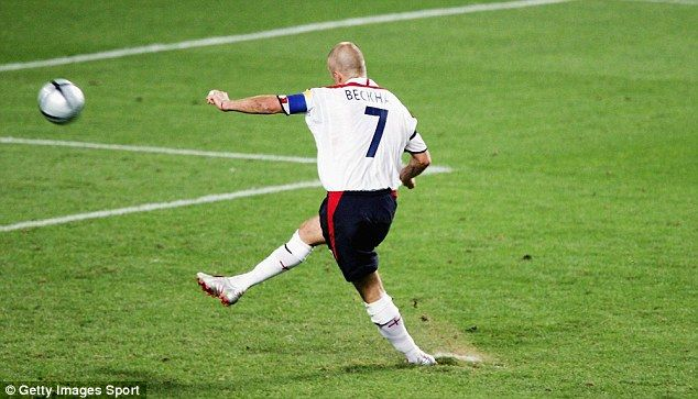 David Beckham's penalty miss against Portugal at Euro 2004