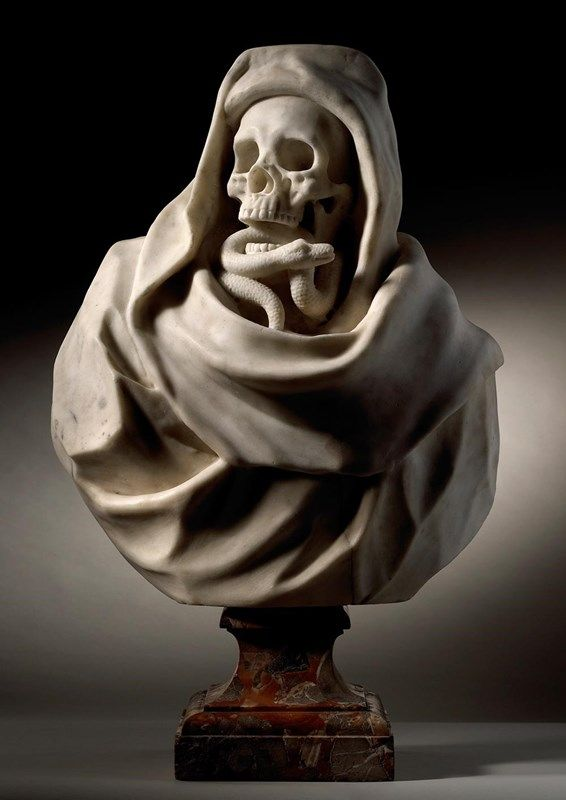 Bridget Riley | Skull art, Art, Marble bust