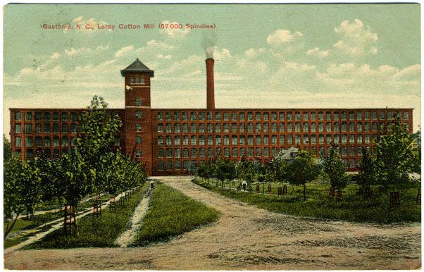 History of Gaston County NC | ... view of Loray Cotton Mill in Gastonia, c. 1908. About the illustration