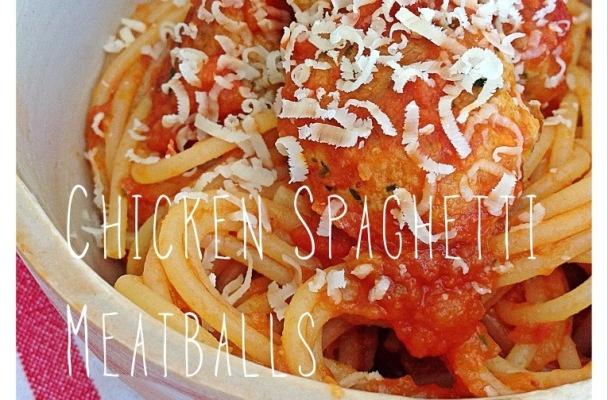 chicken spaghetti meatballs