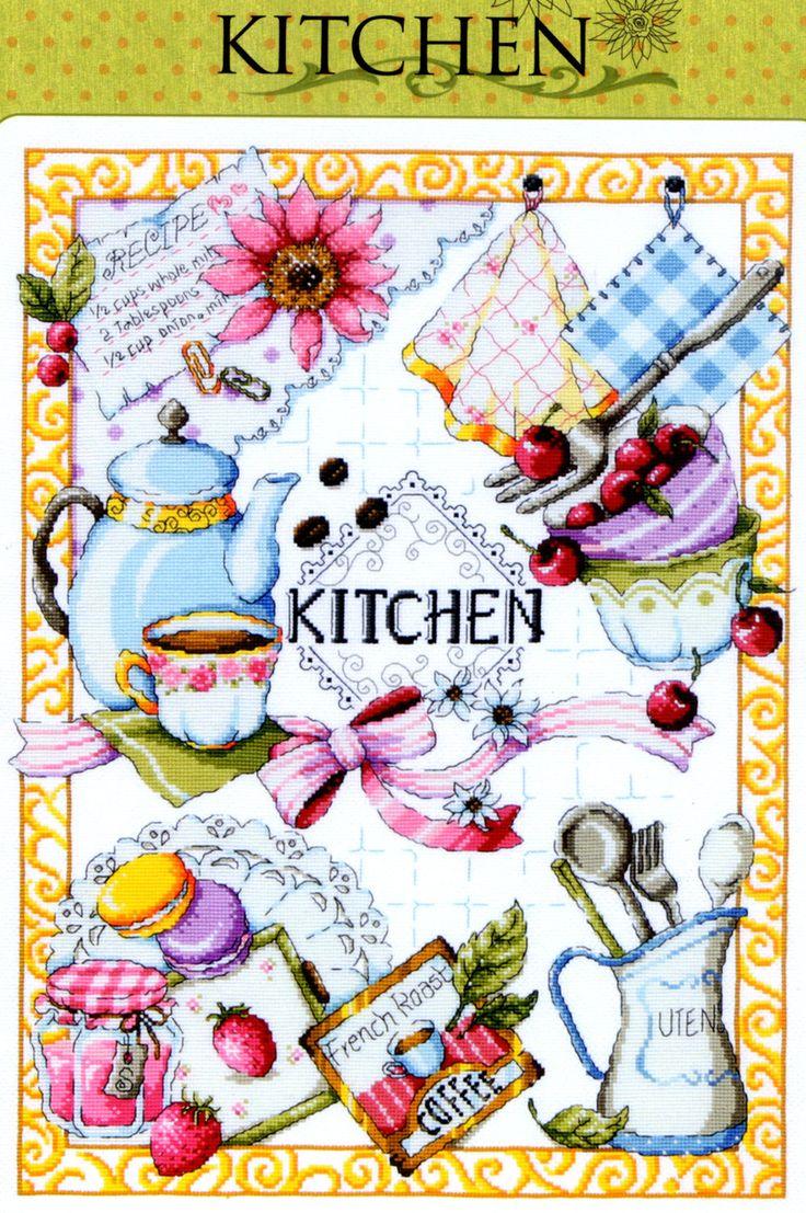 Kitchen - Counted cross stitch pattern book. Big chart SODA SO-K3 by GeniesCrossstitch on Etsy