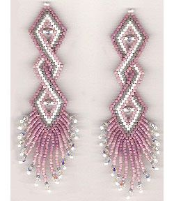 Double Helix Earrings Beading Pattern At Sova Enterprises