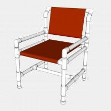 Standard PVC Dining Chair FITkit    Standard PVC Dining Chair - Free PVC Furniture Plans