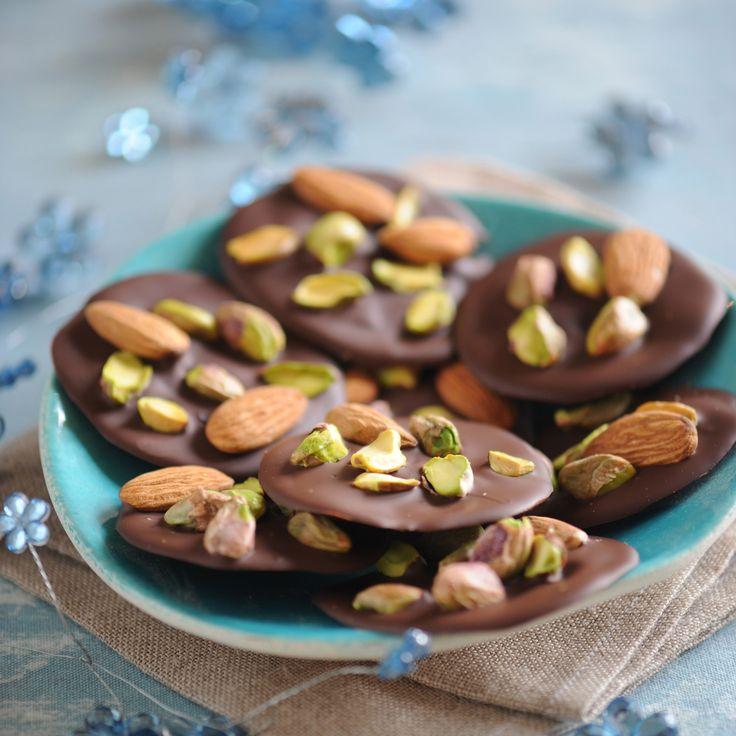 Mendiants aux pistaches et aux amandes