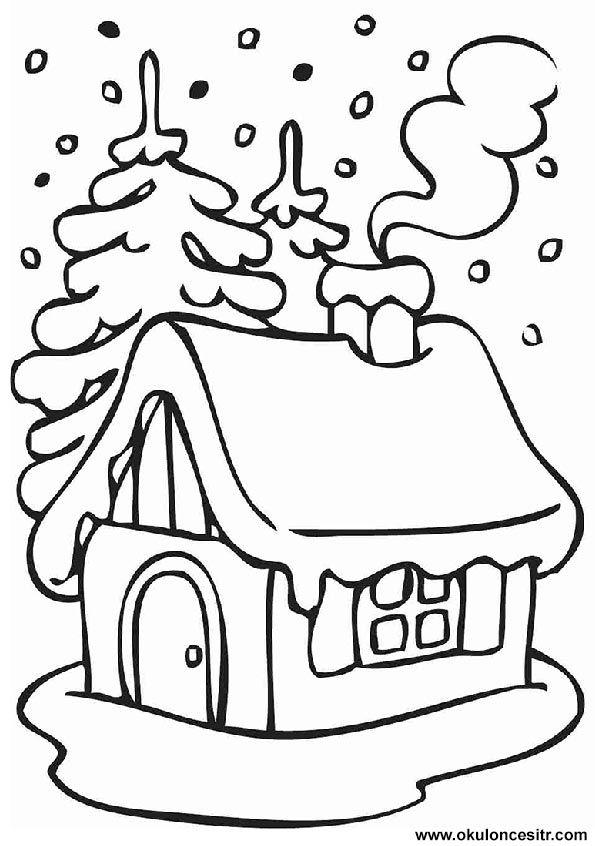 Yılbaşı Ev Yapımı Etkinliği Technikára Christmas Coloring Pages