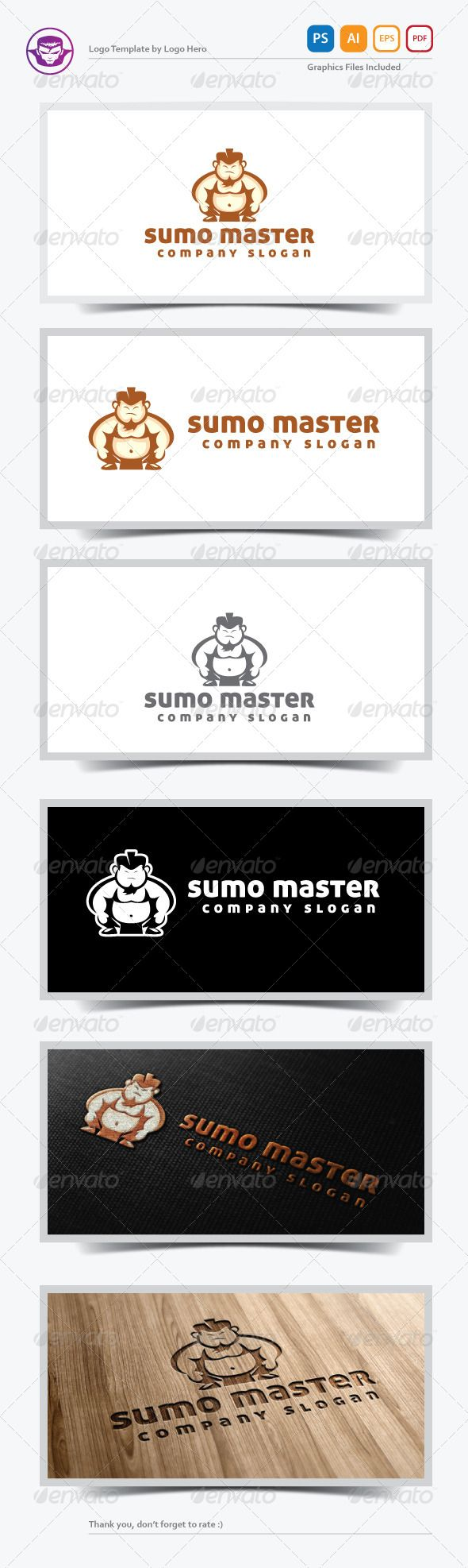 Sumo Master Logo Template ... brand, character, company, fat, fight, host, human, identity, illustrative, illustrator, japan, logo, man, martial art, mascot, people, re sizable, sport, strong, sumo, traditional, vector, web