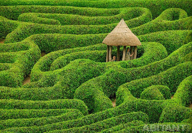 Лабиринт в саду Glenburgan