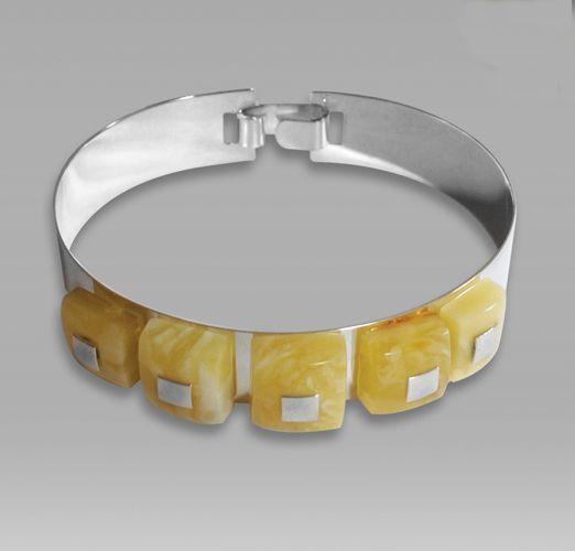 Ambermoda silver and amber bracelet