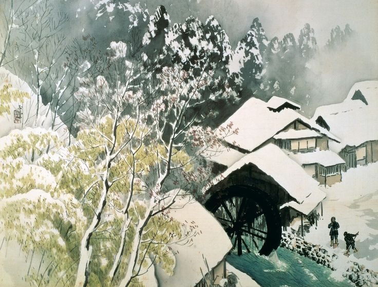 Kawai Gyokudo - Setsugekka in the Morning Snow, 1952
