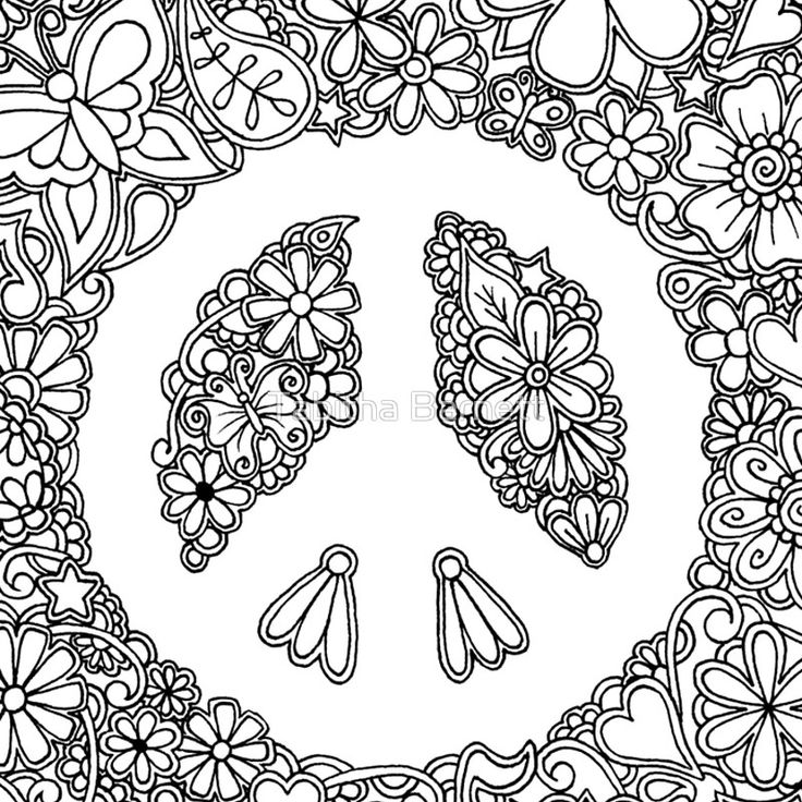 hippie coloring pages - photo#40