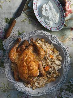 Κοτόπουλο με ρύζι στον φούρνο