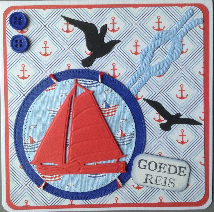"""""""Goede reis"""" met zeilboot"""