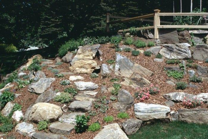 1001 Idees Et Conseils Pour Amenager Une Rocaille Fleurie Charmante Pierre Deco Jardin Amenagement Jardin En Pente Pierre Decoration Jardin