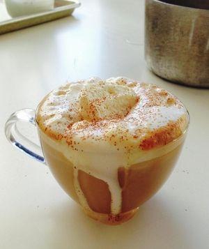 Pumpkin Spice Latte Sub coconut sugar for brown sugar!