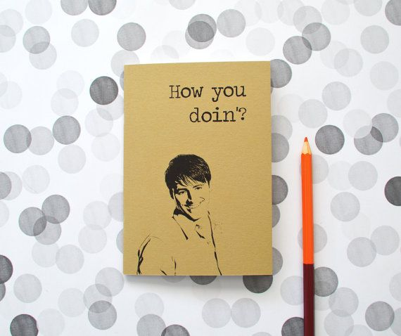 Joey Tribbiani notebook - How you doin'? journal - by invisiblecrown, €4.75
