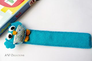 felt owl bookmark