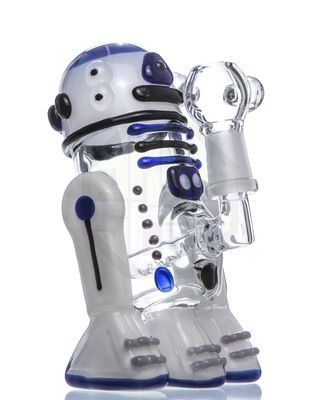 empire glassworks mini r2-d2 themed dab rig