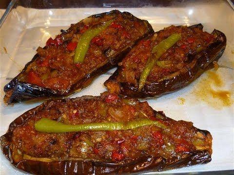 Gefüllte Auberginen-Türkische Rezepte-Karniyarik