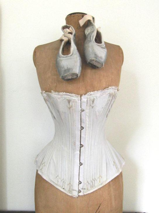 mannequin, corset & ballet shoes