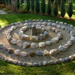 zen garden outdoor meditation area. You walk to the center and back, over and over again till your think your done.