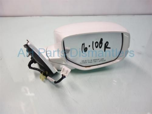 Used 2013 Honda Accord Passenger SIDE REAR VIEW MIRROR - WHITE  76200-T2G-A42ZB 76200T2GA42ZB. Purchase from https://ahparts.com/buy-used/2013-Honda-Accord-Passenger-SIDE-REAR-VIEW-MIRROR-WHITE-76200-T2G-A42ZB-76200T2GA42ZB/117155-1?utm_source=pinterest