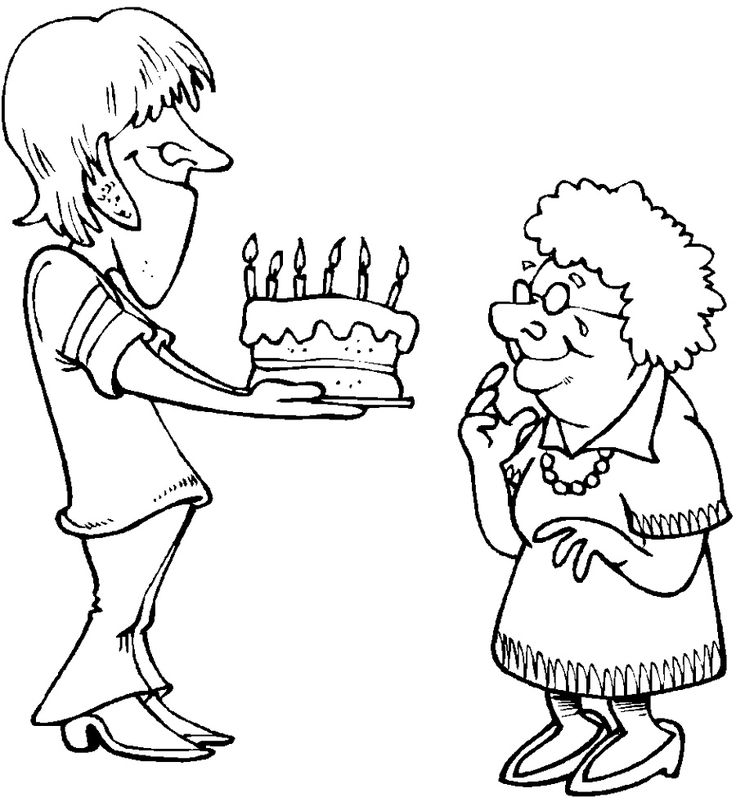 Happy Birthday Grandma Coloring Pages Printable | Happy ...