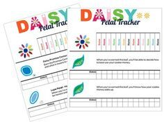 Daisy Girl Scout Troop Badge Petal Requirement Tracker [.doc]