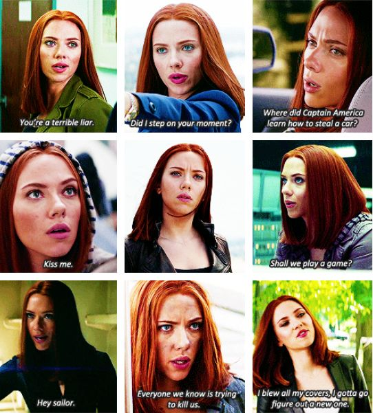 """Natasha Romanoff in """"Captain America: The Winter Soldier"""". Why does she not have her own movie yet? MARVEL!! What's with you!?"""