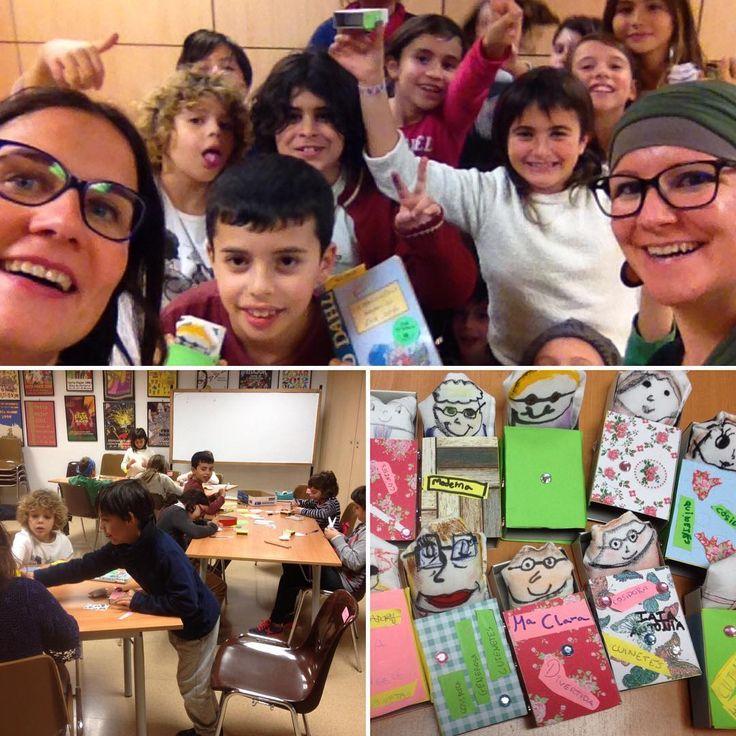 #PetitsLlibres Nova trobada dels menjallibres.  Ja hem acabat la Meravellosa medicina d'en Jordi! #lectura #nens #biblio #leer