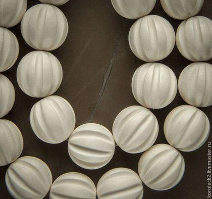 Для украшений ручной работы. Ярмарка Мастеров - ручная работа. Купить Бусины сквош из белого дерева, 15 мм. Handmade.
